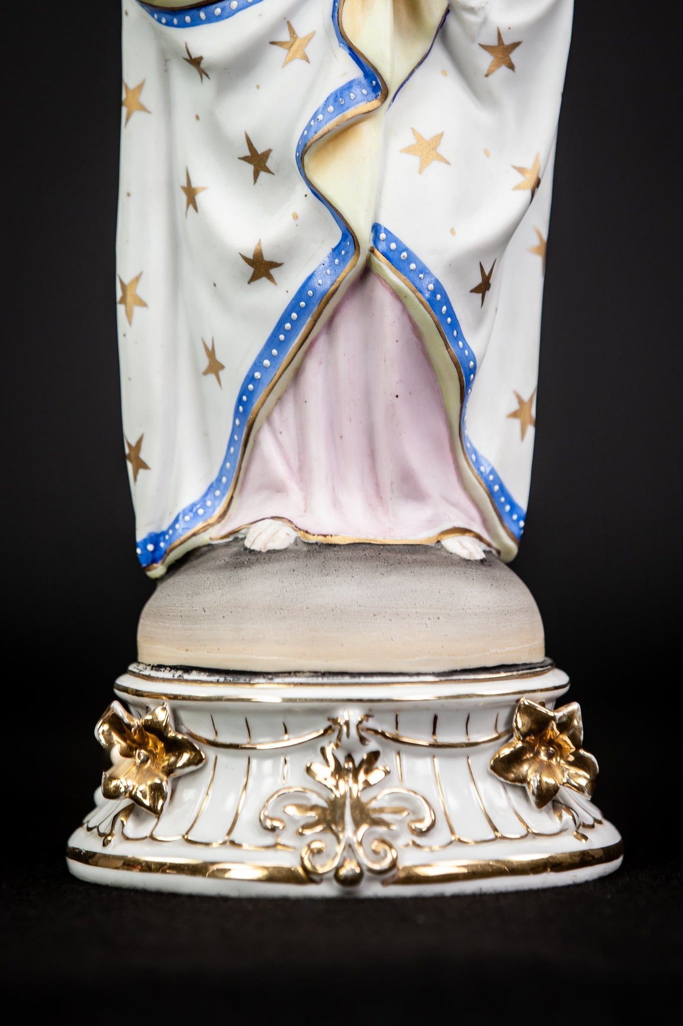 Virgin Mary Child Christ Statue | Bisque Porcelain | 15""