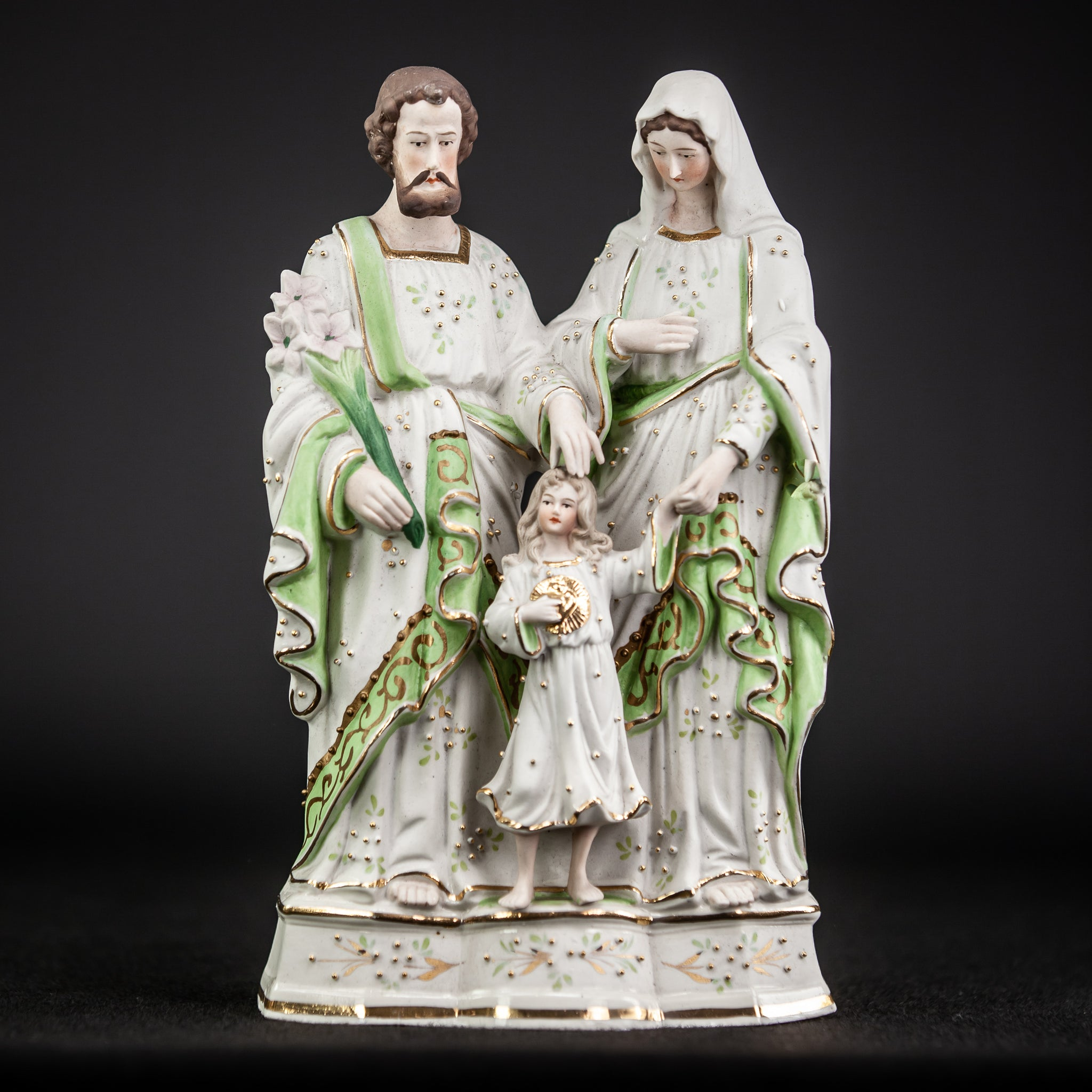 Holy Family Statue | Bisque Porcelain | 11""