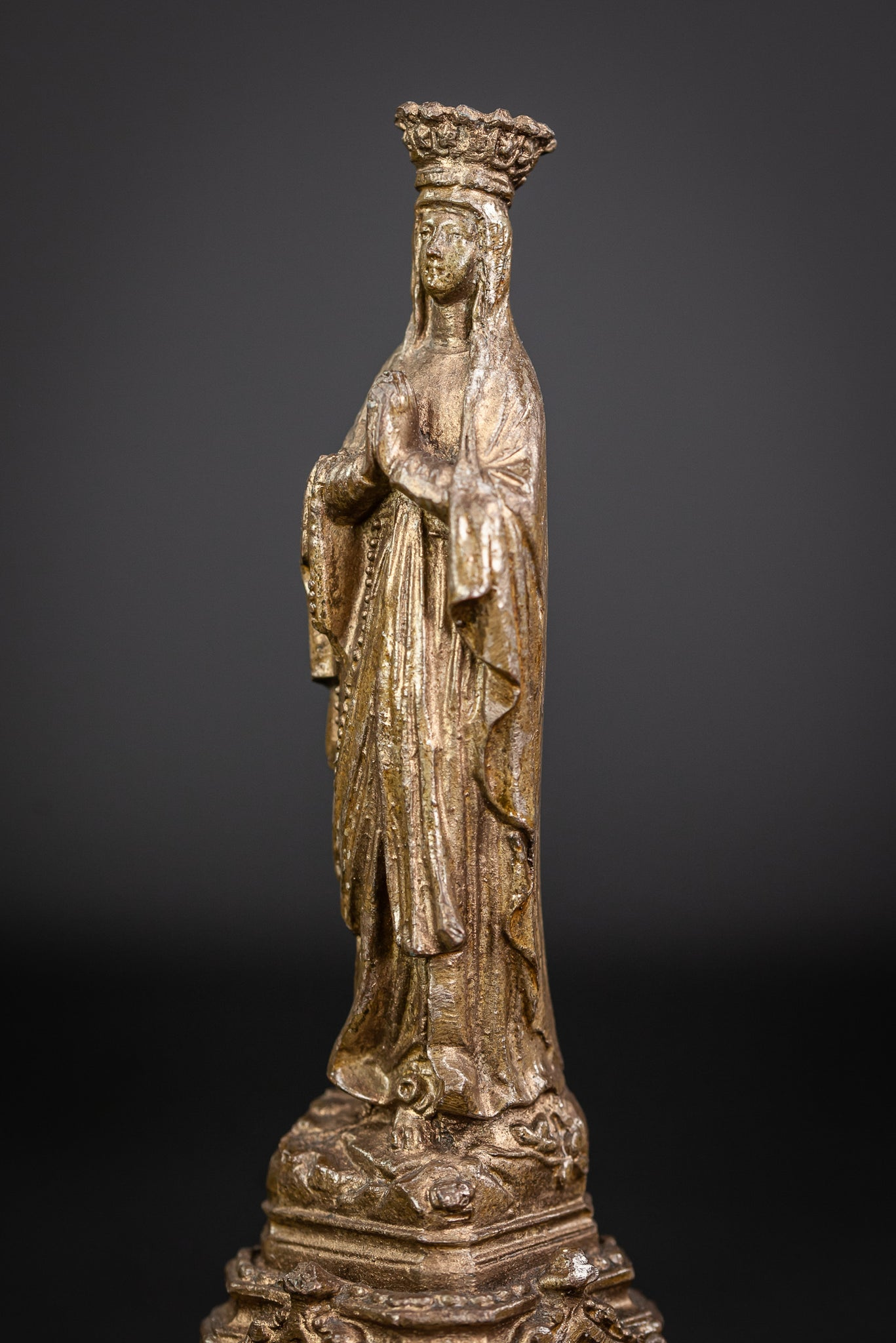 Our Lady of Lourdes Metal Figurine 7.3""