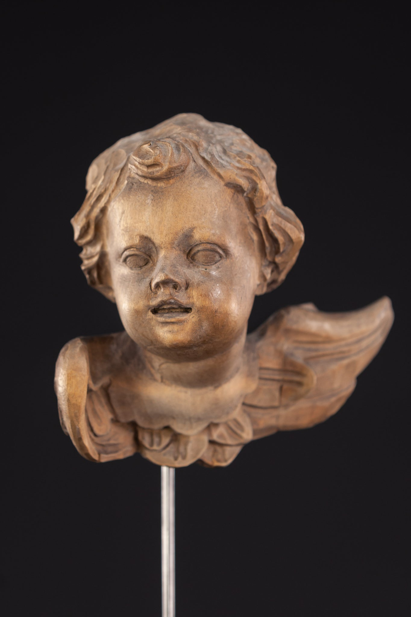 Angel Sculpture |  Wooden Vintage Archangel Figure