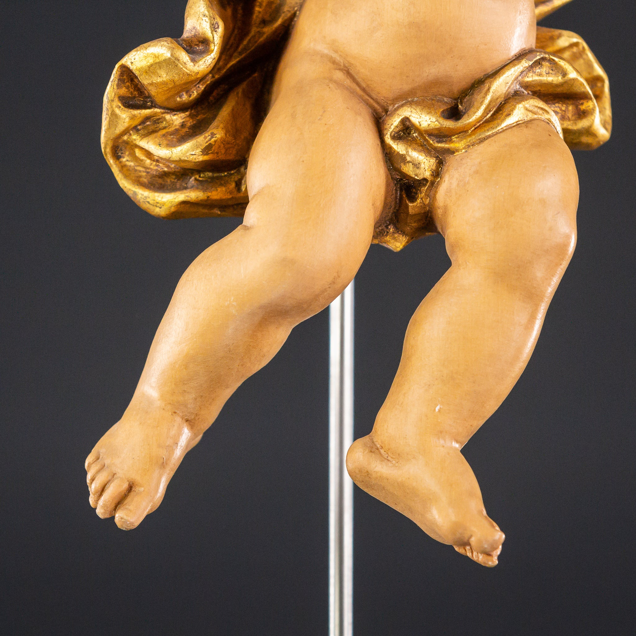 Angel Sculpture | Wood Carving Statue 10.2""