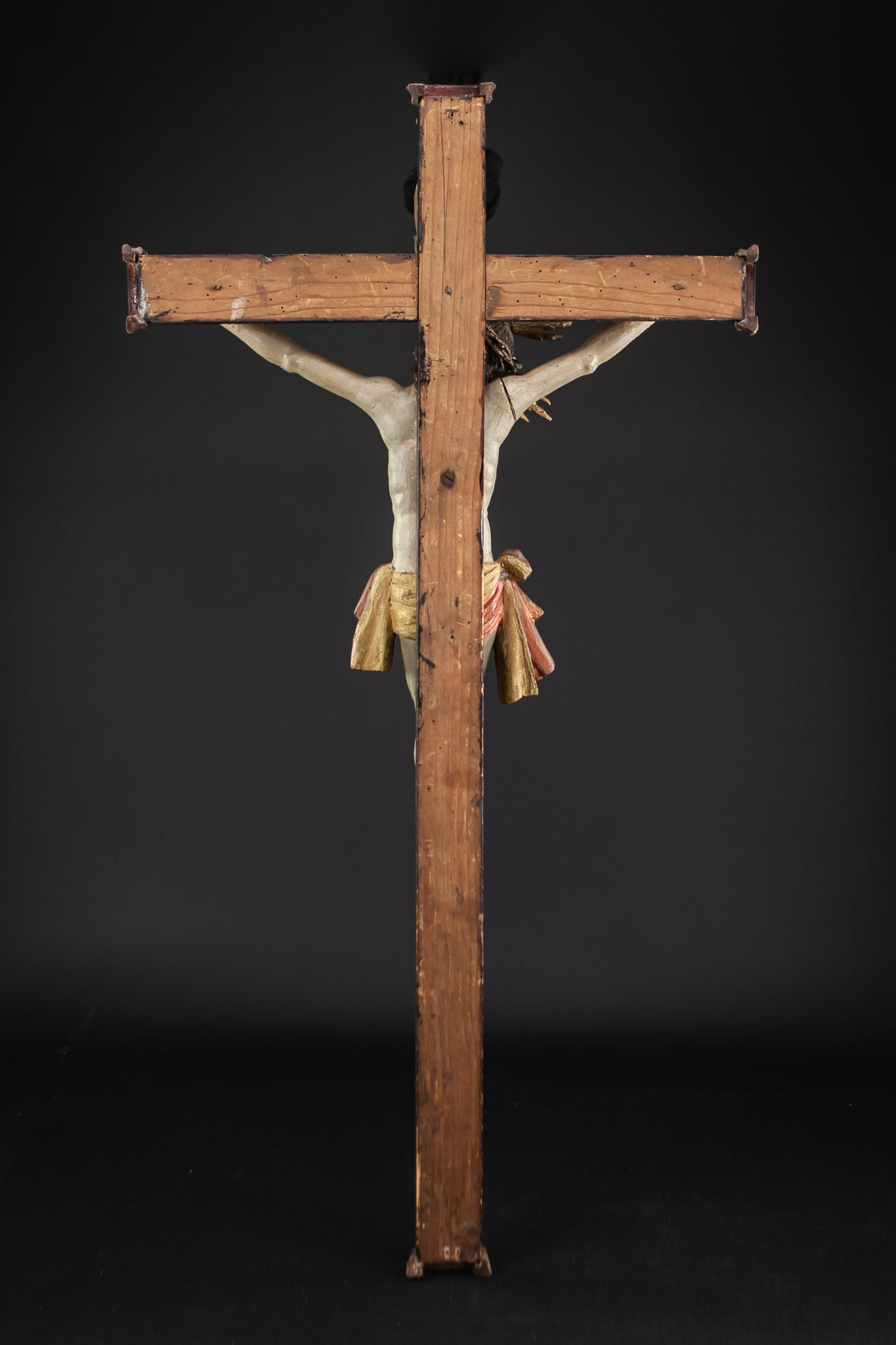 Crucifix Wooden Church 1800s Corpus Christi 37.4""