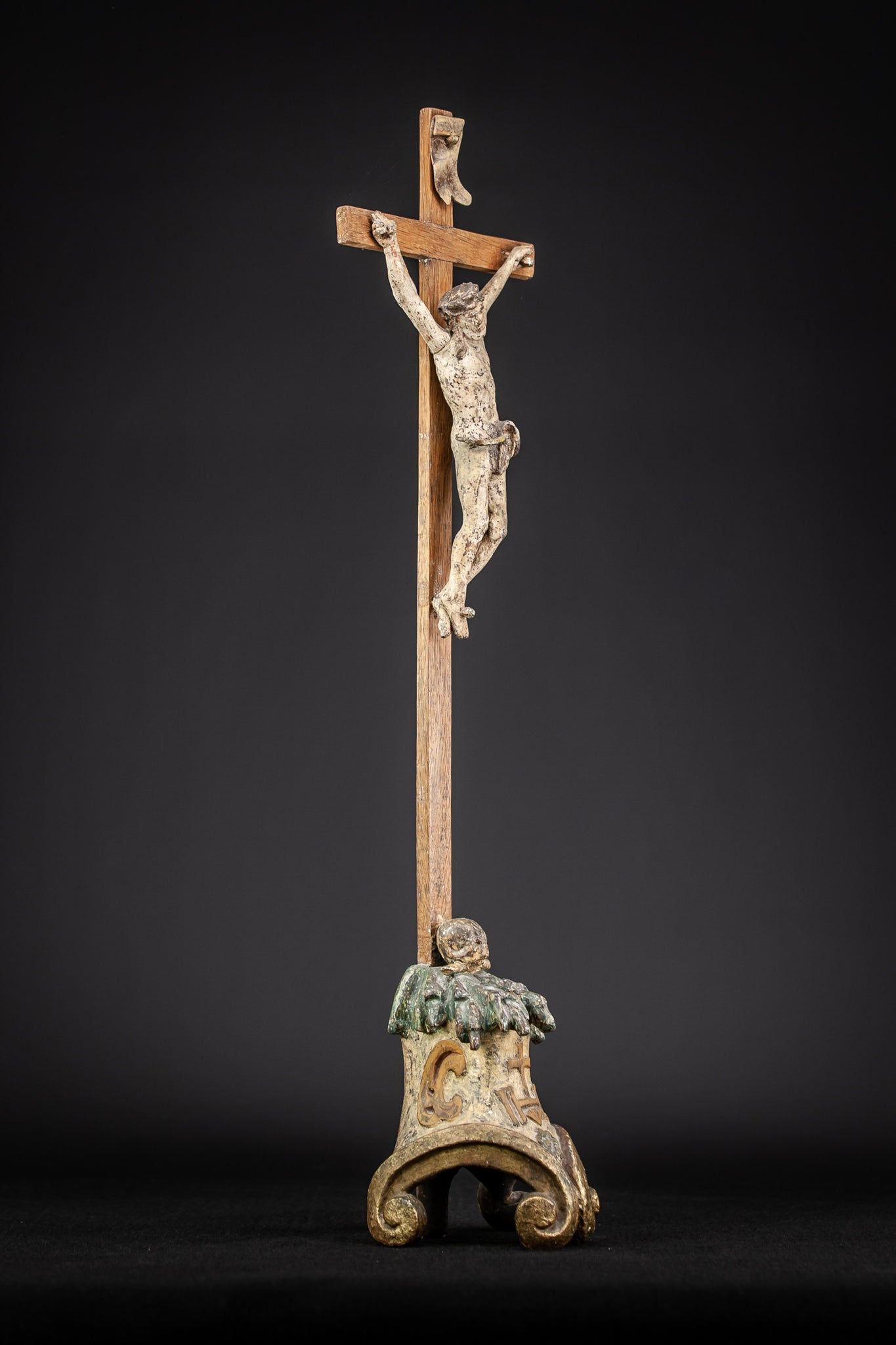 Altar Crucifix Antique Baroque 1600's | 27.8""