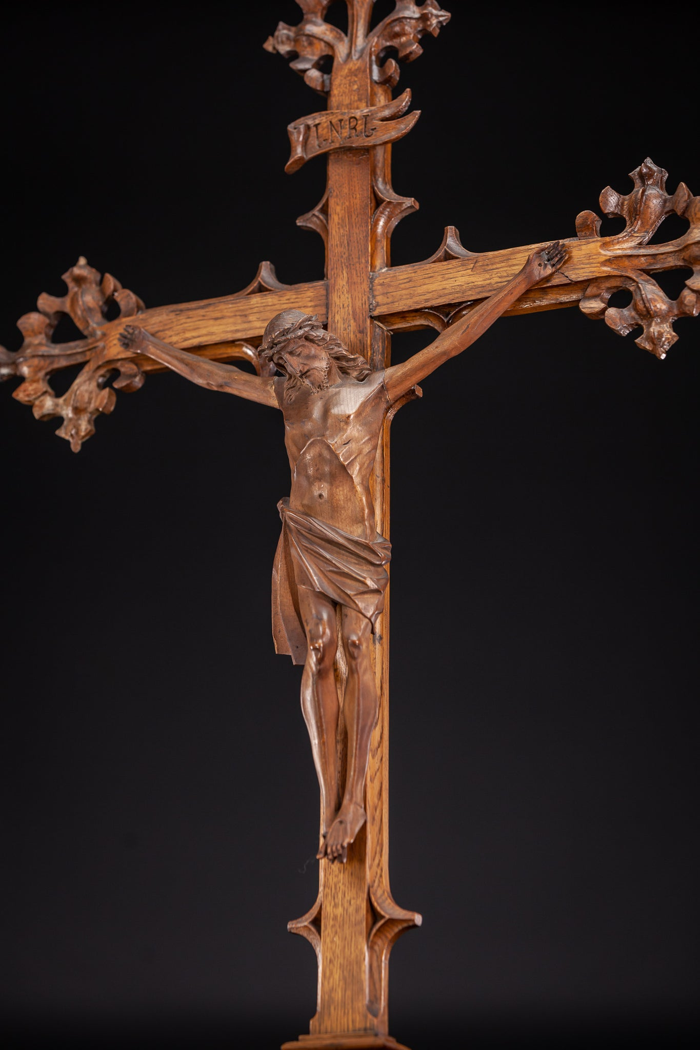 Altar Crucifix Wooden Cross 35""