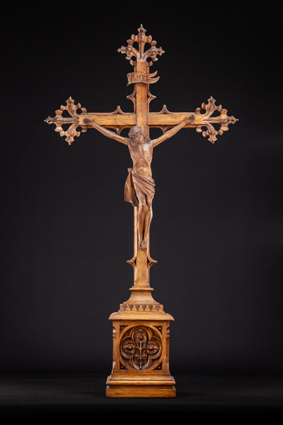 RESERVED for Rev Joakim - Altar Crucifix Wooden Cross 35""