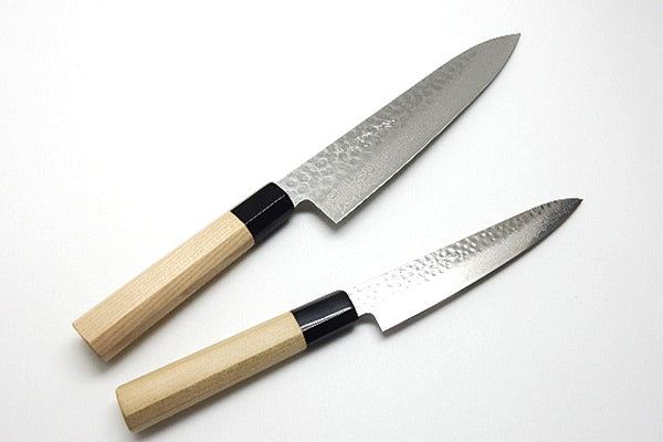 VG-10 45 Couches Hammered Damas, Couteau NSW Set / Gyuto & Paring Knife