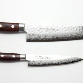 VG-10 Hammered Damascus, HAA Knife Set/Gyuto & Paring Knife