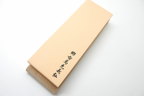 Yoshihiro Original Medium Whetstone #1000(Orange) with Wooden Base