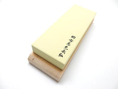 Yoshihiro Original Finishing Whetstone #8000(Green) with Wooden Base