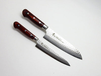 VG-10/ 33 Layers Hammered Damascus 2 Knife Set(Santoku & Paring)