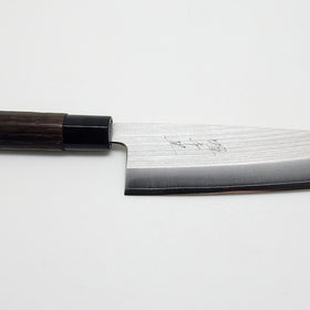 SKD Powdered Stainless Steel, Santoku 165mm Black Chestnut Handle
