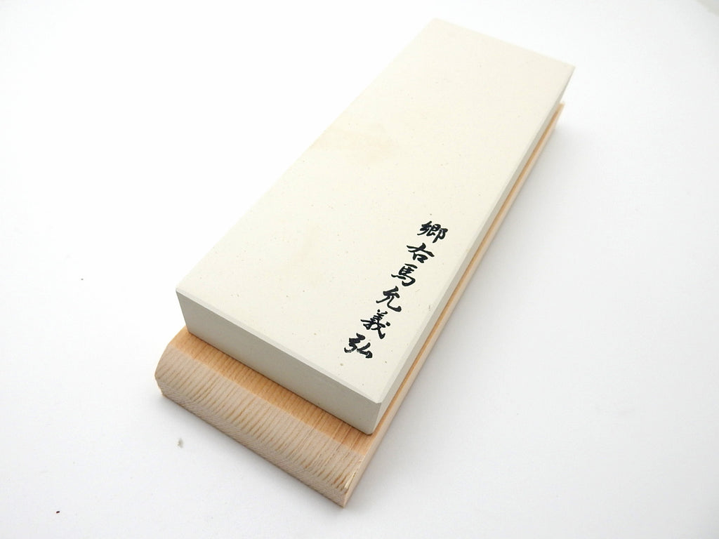 Yoshihiro Original Medium Finishing Whetstone #3000(White) with Wooden Base