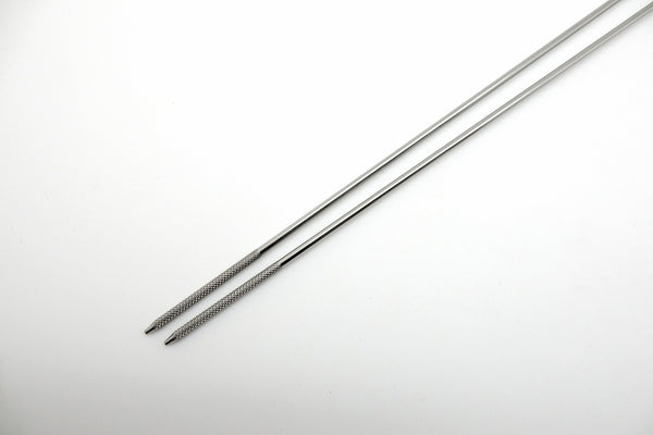 Stainless Tempura Chopsticks, w/Wooden Handle 420mm