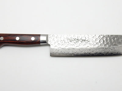 VG-10 17 Layers Hammered Damascus HAA Nakiri 160 mm