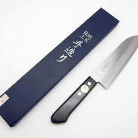 Whale Mark Aogami No.1(Blue Steel #1) Warikomi Household Santoku 165 mm
