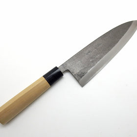 Yasuki White Steel, Sakekiri Salmon Knife Black Forging Finish 210 mm/8.3""