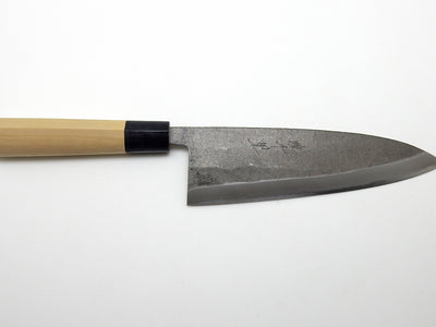 Yasuki White Steel, Sakekiri Salmon Knife Black Forging Finish 210 mm