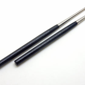 "Professional MORIBASHI Chopsticks,Honyaki Stainless Tip, Lacquered Handle, ""Black Grained"""