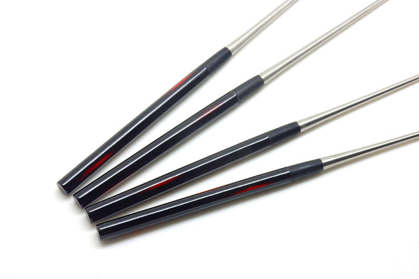 "Professional MORIBASHI Chopsticks,Honyaki Stainless Tip, Lacquered Handle, ""Dawn"""
