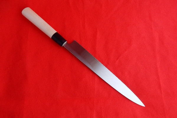Yasuki White Steel #2, Chef's Yanagiba Hongasumi-Finish