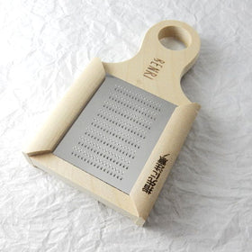 Handmade Stainless Wasabi Grater with Bamboo Brush