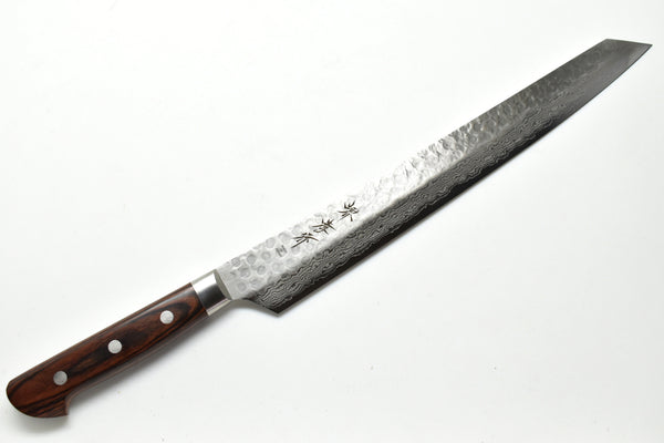 VG-10 17 Layers Hammered Damascus Kengata Yanagi (Double bevel) 300mm