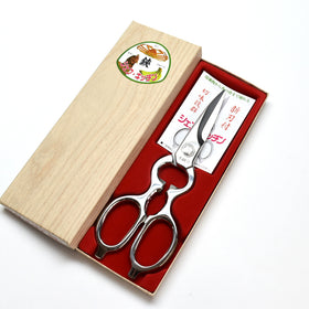 """Chef Kitchen Mirror"" ALL Stainless Forged,Food Scissors 200mm"