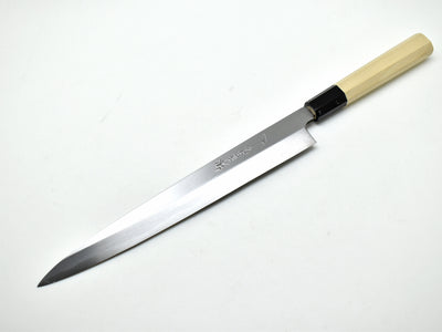Left Handed/YWL Yasuki White Steel #2, Chef's Yanagiba/ Hongasumi-Finish