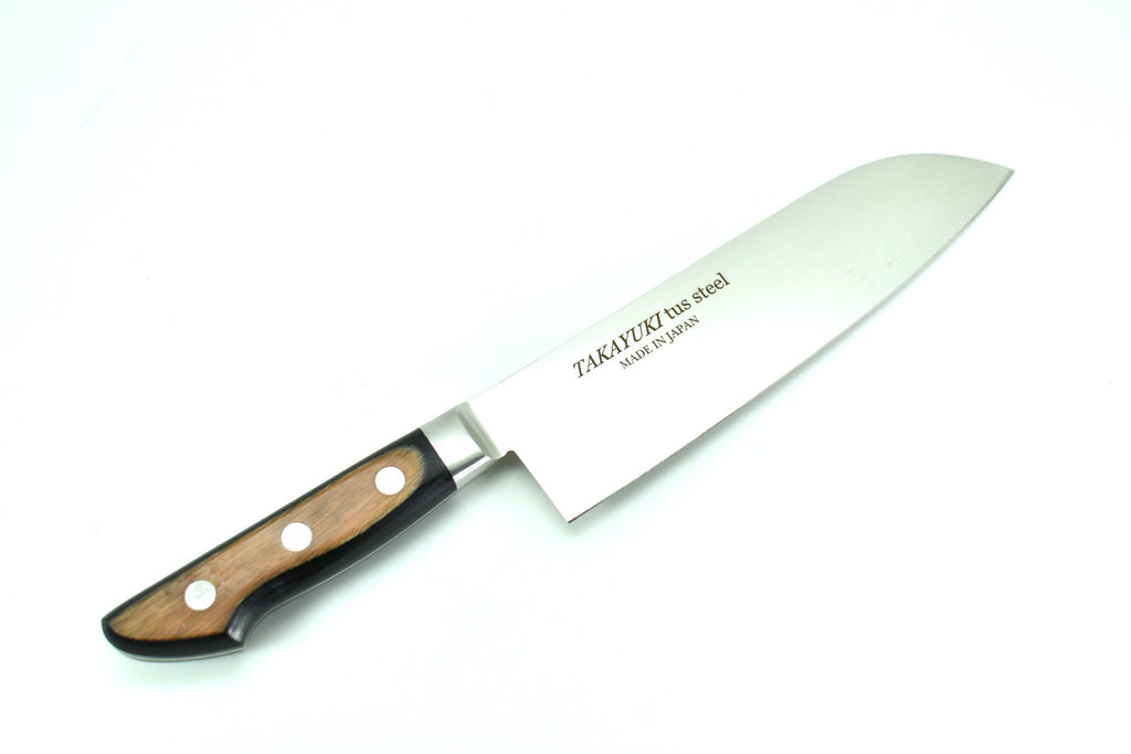 TUS Hi-Carbon Stainless Steel, Santoku 180mm