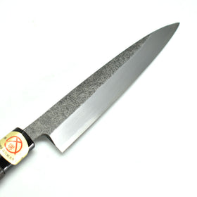 YuiSenri Yasuki White Steel #2 Single bevel Paring Knife Black 150 mm Black Chestnut Handle