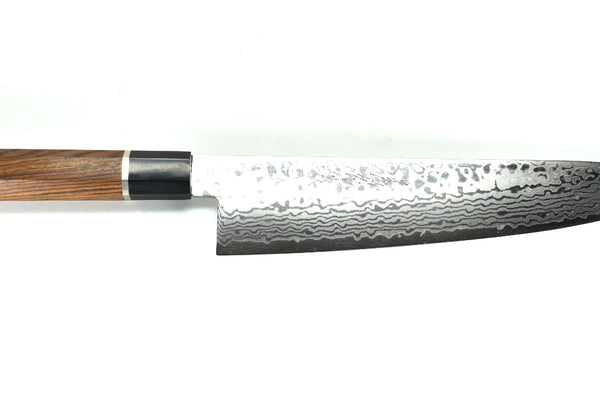 Cobalt Stainless ZAD 69 Layers High Light Damascus Gyuto, Professional Bocote Handle