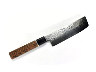 Cobalt Stainless ZAD 69 Layers High Light Damascus Nakiri 160 mm, Professional Bocote Handle