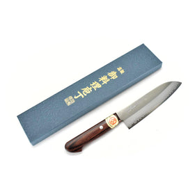 VG-1 GOLD Clad Steel, HGW Small Santoku 140 mm