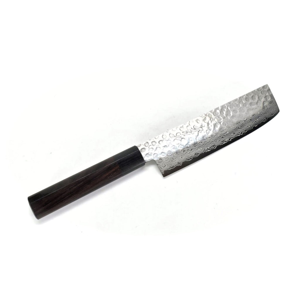 VG-10 45 Layers Hammered Damascus NSW Japanese Style Nakiri 160 mm Shitan Handle