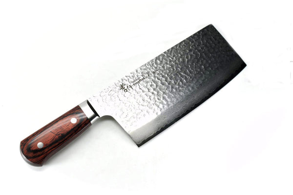 VG-10 33 Layers Hammered Damascus Cleaver 195 mm