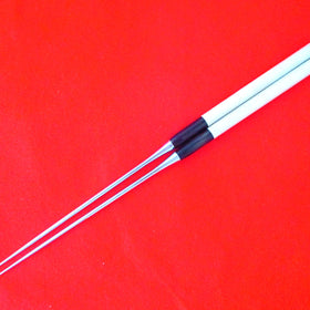 """MORIBASHI"" Chopsticks/Stainless Steel Tip(Round Wooden Handle/Buffalo Horn Bolster)"