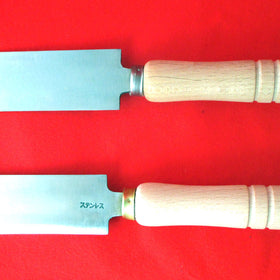 "Abalone Spatula 210mm/8.3"" with Wooden Handle"