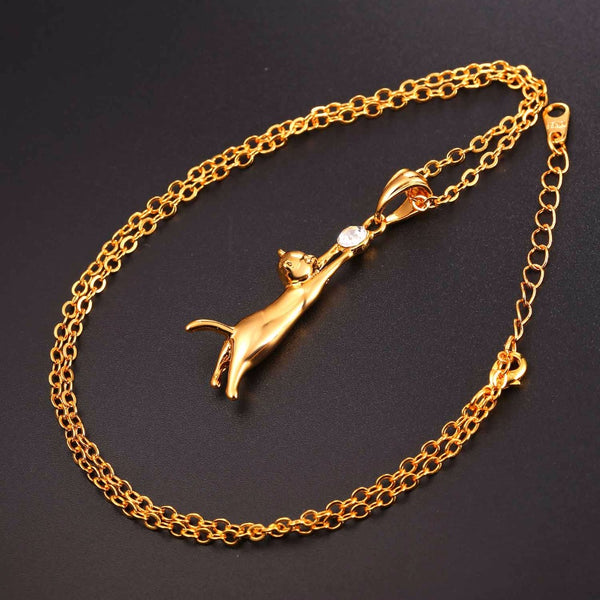 HOT! Cute Cat Necklace & Pendant For Women