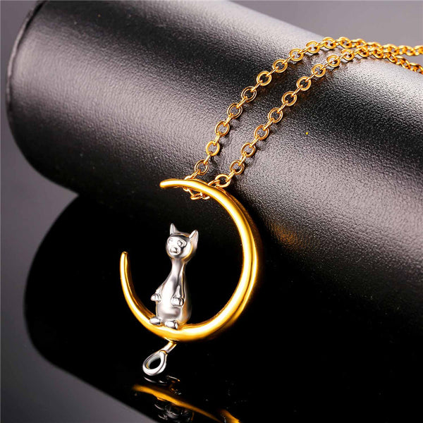 Hot 2017 Gold Cat Chain Necklace