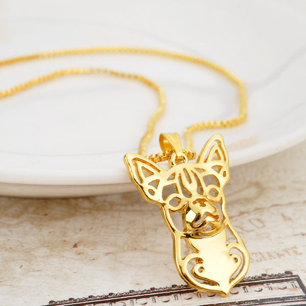 Trendy Chihuahua Pendant Necklace