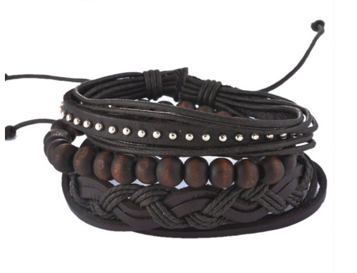 Punk Rock Braided Multi-Layer Leather Bracelet