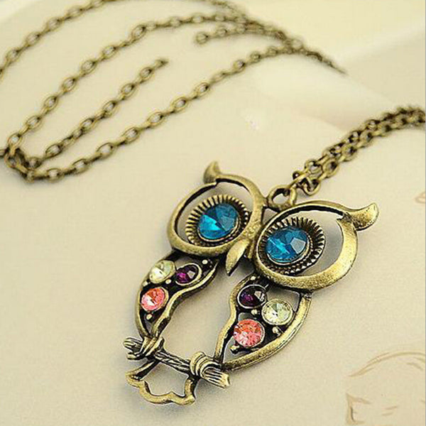 New Rasha Cute Owl Chain Necklaces Pendants Fashion Jewelry For Women