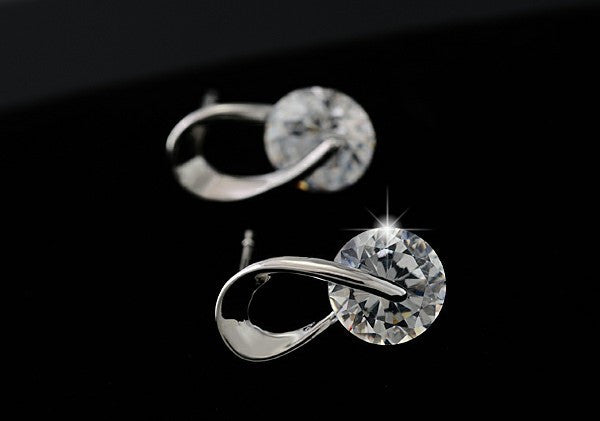 Rasha Austria Crystal Wedding Stud Earrings