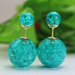 Elegant double imitation pearl stud earrings for women