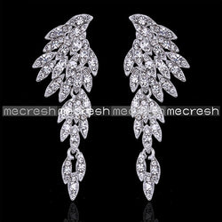 Five Colors Crystal Long Bridal Drop Earrings For Woman