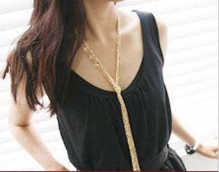 Rasha Multi-layer Tassel Long Necklace Vintage Designer