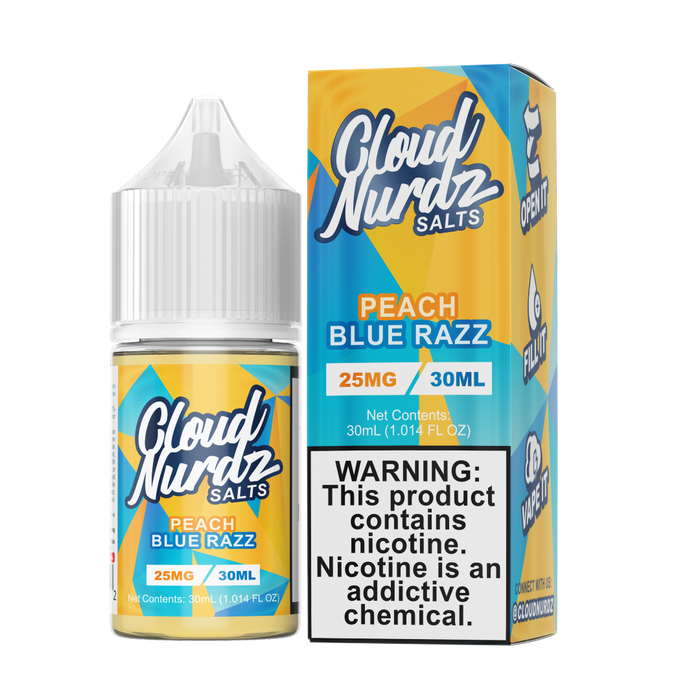 Cloud Nurdz SALT - Peach Blue Razz