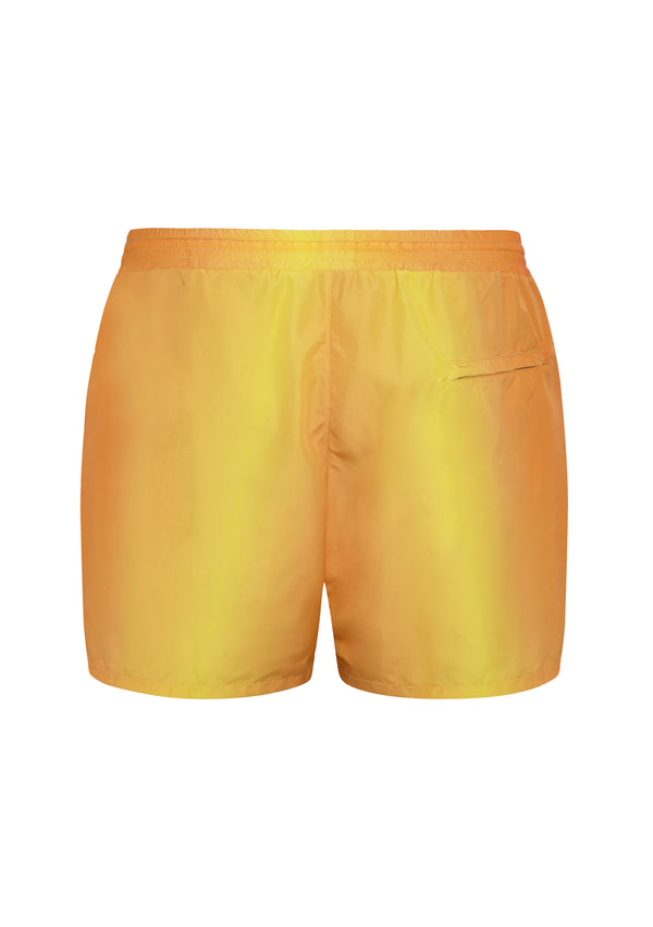 Men swim short made from sustainable and recycled fabrics and materials such as plastic bottles.