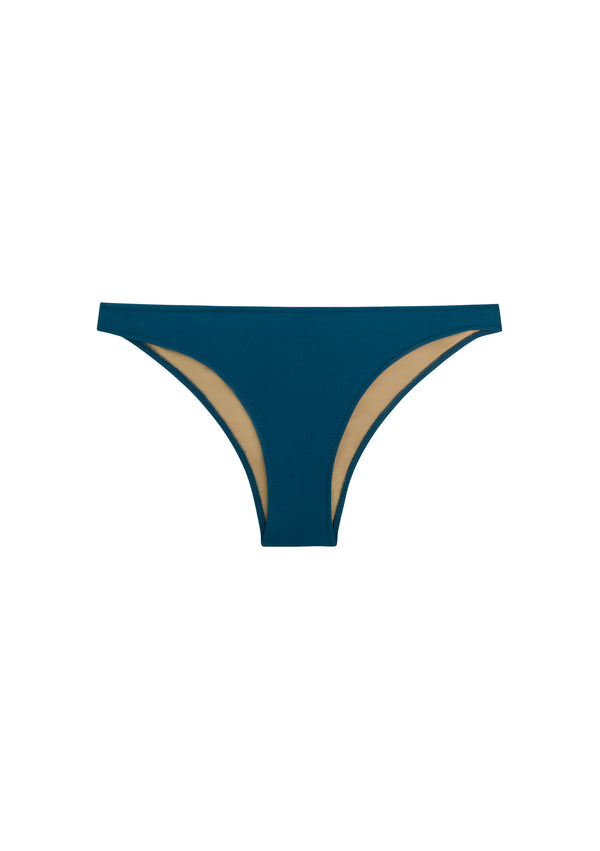 Cheeky bikini bottom made from sustainable fabrics, ethically made. Sustainable swimwear brand from Barcelona.