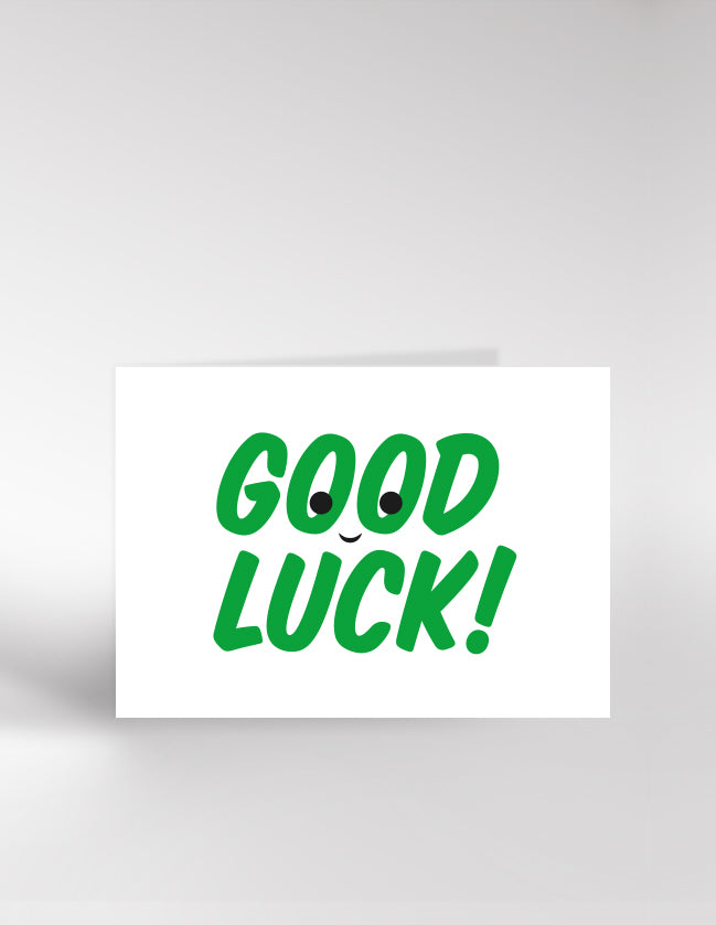 Dicky Bird Good Luck Card